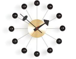 Design Clock by George Nelson Ball Clock In Black U0026 Brass Hivemodern Com