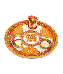 aura handicraft u0026 home decor pooja thali buy aura handicraft