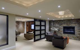 interior basement ideas mixed with soft cream fur rug and dark