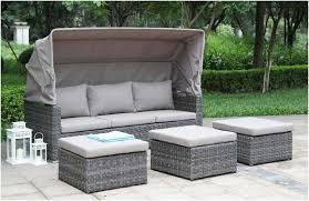 canapé de jardin poly rotin modulable port offert loveuse terrasse