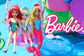 The Little Mermaid Bathroom Set Frozen Elsa Mermaid Barbie And Little Mermaid Ariel Barbie