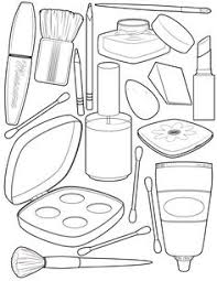 makeup coloring illustration makeup doodles