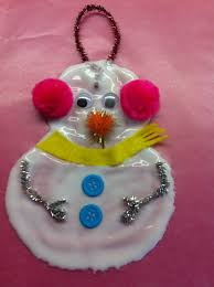 rockabye butterfly glue snowman ornament