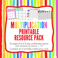 printable maths games for multiplication learning childhood101