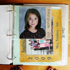 8 5 x 11 photo album back to school write click scrapbook