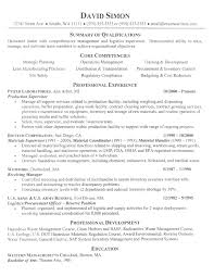 Summary Resume Sample by Manufacturing Resume Samples Gallery Creawizard Com