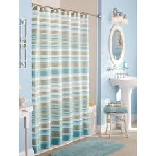 bathroom stall shower curtain with white bath tub and white