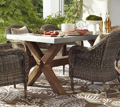 pottery barn concrete table enchanting outdoor furniture pottery barn images simple design