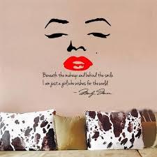 Marilyn Monroe Wall Decor Ebay Marilyn Monroe Face Red Lip Inspirational Quotes Wall