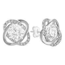 earring jackets twist diamond earring jackets in white gold shane co
