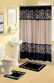 zebra print bathroom ideas minimalist home dynamix boutique deluxe shower curtain and bath rug