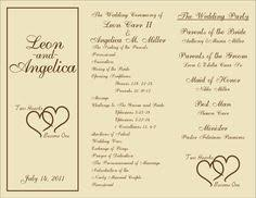 programs for a wedding ceremony wedding program trifold fairy tale wedding