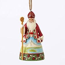 Jim Shore Christmas Ornaments Uk by Amazon Com Jim Shore Heartwood Creek Italian Santa Stone Resin