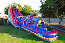 Backyard Slip N Slide Gray Marble Water Slide Bounce House Undersea Castle Castle