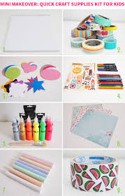 mini makeover quick craft supplies kit for kids on style for a