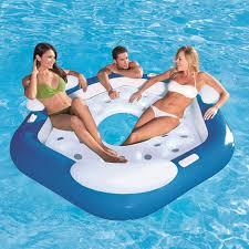 amazon com coolerz x3 inflatable island 3 person toys u0026 games
