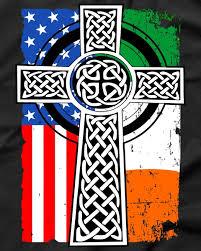 usa flag celtic cross st s day t shirt