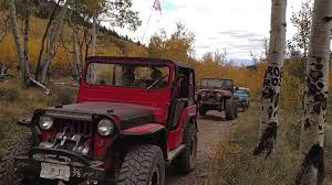 jeep maroon color aspen ridge colorado international flat fender club fall color
