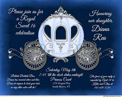 sweet 16 cinderella theme fairytale sweet sixteen invitations enchanted cinderella