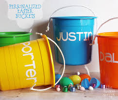personalized easter buckets personalized easter buckets the happy scraps