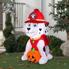 gemmy airblown inflatable 4 u0027 x 2 5 u0027 paw patrol marshall with