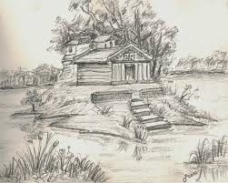 photos simple landscape sketches drawing art gallery