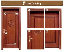 low prices modern design solid teak wood interior bedroom doors