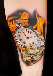 100 melting clock tattoo designs photo collection melting