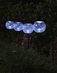 Crackle Globe Solar Lights by Crackled Glass Solar Lights Set Of 6 Free Shipping Today