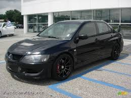 black mitsubishi lancer 2003 mitsubishi lancer evolution viii in tarmac black 086663