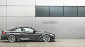 bmw m4 widebody bmw m4 by tag motorsports looks mean with very wide body kit