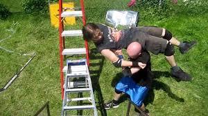 swede savard c vs jd grudge match chw backyard wrestling youtube
