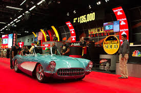 corvette auctions mecum auctions denver 1957 chevrolet corvette resto mod 3 motor