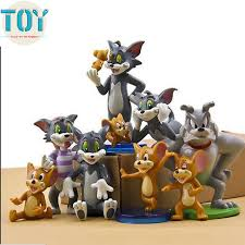 tom and jerry cake topper new 9 pcs tom and jerry figure toys cat mouse dog animals