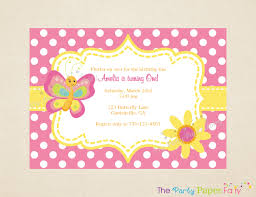 How To Make Invitation Cards For Birthday Butterfly Birthday Invitations Kawaiitheo Com