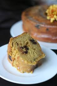 pumpkin chocolate chip bundt cake with cardamom ginger soaking