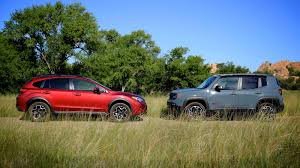 subaru xv crosstrek comparison vs jeep renegade trailhawk club crosstrek subaru