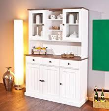 anrichte küche buffet sideboard kommode aus kiefernholz weiß lackiert schrank