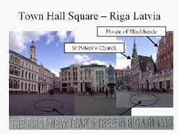 first christmas tree riga latvia in year 1510 patricia ltd