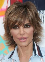 lisa rinna weight off middle section hair lisa rinna layered short synthetic straight hair razor cut women