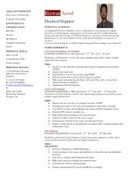 curriculum vitae template for engineers resume template example