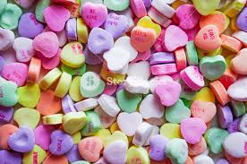 heart candies closeup of heart candies with message royalty free stock image