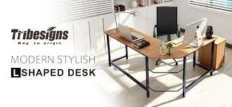 Sturdy Office Desk Tribesigns Modern L Shaped Desk Corner Computer Desk Pc Latop
