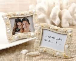 picture frame wedding favors themed colorful seashells place card holder photo frame