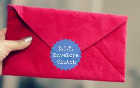 diy envelope clutch style inked