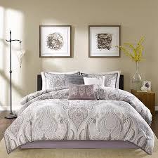 Purple And Gray Comforter Madison Park Samir Purple Comforter Set 10070342 Hsn