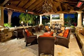 Tropical Patio Design Tropical Patio Ideas Patio Tropical With Heat Lamps Glass Railing