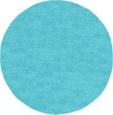 turquoise 8 u0027 x 8 u0027 solid frieze round rug area rugs esalerugs