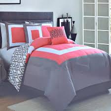 Fuchsia Comforter Set Bedroom Interesting Decorative Bedding With Comfortable Coral