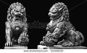 foo dog sculpture statue guardian lion foo fu stock photo 512406331